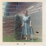 Mabel Sheldon, missionary friend from India retired at Boulder Methodist Home after 37 years of service, 1967