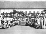 Students and teachers of the Anglo Indonesia Institute, Surabaya, Indonesia, 17 August 1949