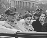 General Douglas MacArthur and Family in a Motorcade