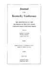 1956 Journal of the Kentucky Conference the Proceedings of the One Hundred and Thirty-Sixth Session (Eighteenth Session of the United Church) by The Methodist Church