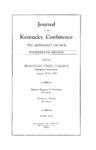 1952 Journal of the Kentucky Conference the Proceedings of the Fourteenth Session