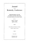 1955 Journal of the Kentucky Conference: The Proceedings of the One Hundred and Thirty-Fifth Session (Seventeenth Session of the United Church)