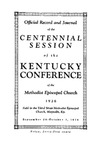 1926 Official Journal of the Kentucky Annual Conference of the Methodist Episcopal Church: The Centennial Session