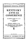 1932 Official Journal of the Kentucky Annual Conference of the Methodist Episcopal Church: The One Hundred and Sixth Session