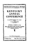1933 Official Journal of the Kentucky Annual Conference of the Methodist Episcopal Church: The One Hundred and Seventh Session by Methodist Episcopal Church