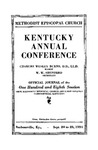 1934 Official Journal of the Kentucky Annual Conference of the Methodist Episcopal Church: The One Hundred and Eighth Session