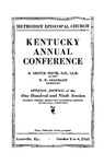 1935 Official Journal of the Kentucky Annual Conference of the Methodist Episcopal Church: The One Hundred and Ninth Session by Methodist Episcopal Church