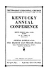 1937 Official Journal of the Kentucky Annual Conference of the Methodist Episcopal Church: The One Hundred and Eleventh Session by Methodist Episcopal Church