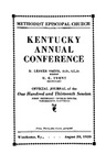 1939 Official Journal of the Kentucky Annual Conference of the Methodist Episcopal Church: The One Hundred and Thirteenth Session by Methodist Episcopal Church