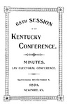 1891 Minutes and Official Journal of the Sixty-Fifth Session of the Kentucky Conference of the Methodist Episcopal Church by Methodist Episcopal Church