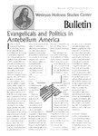 Wesleyan Holiness Studies Center bulletin 2:1 (Winter 1993)