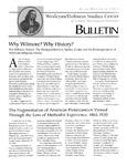 Wesleyan Holiness Studies Center bulletin 3:1 (Winter 1995)