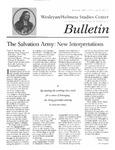 Wesleyan Holiness Studies Center bulletin 5:1 (Winter 1997)