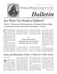 Wesleyan Holiness Studies Center bulletin 6:1 (Spring 1998)