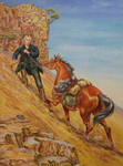 Francis Asbury Leading His Horse up a Mountain