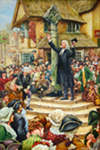 John Wesley Preaching at a Market Cross by Richard Douglas