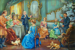 Francis Asbury Preaching Indoors