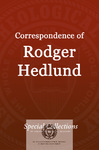 Correspondence of Roger Hedlund: Letters May-Aug 1980