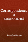 Correspondence of Roger Hedlund: Letters Aug-Dec 1987