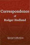 Correspondence of Roger Hedlund: Summer Institute of Linguistics