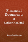 Financial Documents of Roger Hedlund: CGAI 1979-1980