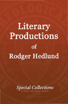 Literary Production of Roger Hedlund: Research - Calcutta