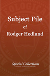 Subject File of Roger Hedlund: Bangalore Conference 1987