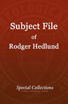 Subject File of Roger Hedlund: Baptists in India 1984-1985