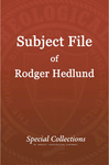 Subject File of Roger Hedlund: CBMTM 1995