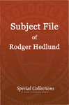 Subject File of Roger Hedlund: India Studies