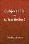 Subject File of Roger Hedlund: Satnami Book