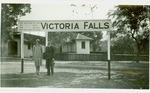 Victoria Falls and Sign