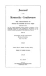 1968 Journal of the Kentucky Conference the Proceedings of Session One Hundred and Forty-Eight by The Methodist Church