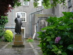 Back Entrance to New Room and Charles Wesley Statue by Ken Boyd