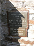 Plaque at Digory Isbell's Cottage